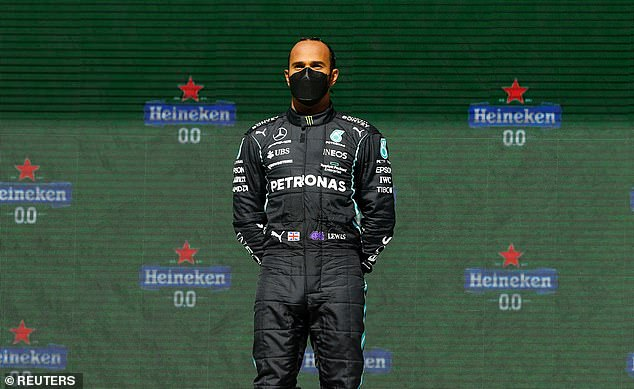 Success: Lewis won the Portuguese Grand Prix last weekend, coming from second on the grid