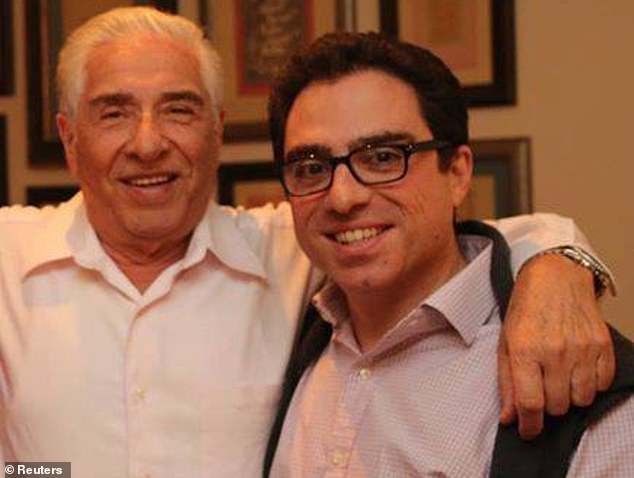 Iranian-American consultant Siamak Namazi is pictured with his father Baquer Namazi. Both are among the four Americans known to be being held prisoner in Iran