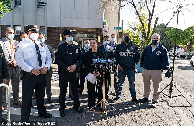 A Press briefing by NYPD Deputy Inspector Jessica Corey at 50th Precinct was held on Saturday in regards to arrest of suspect in recent vandalism of synagogues in the Bronx