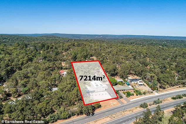 The homes are set on a 7214m2 block off the Great Western Highway in Glen Forrest, WA
