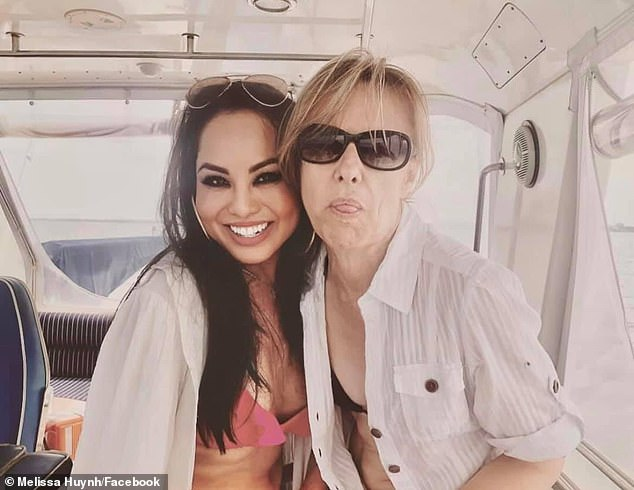 Melissa Huynh and friend Amanda Brown spent good times together on the boat (pictured)