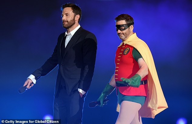 Friends:  While the rivalry is often played up on the show, in reality Kimmel, Damon and Affleck are all close friends