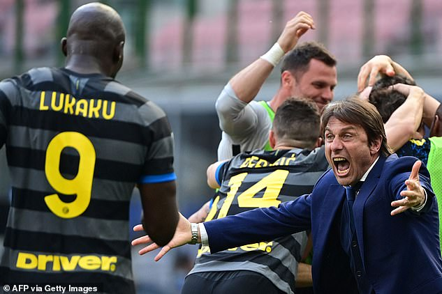 Yet Inter Milan are now 13 points clear with four games remaining as they clinched the title