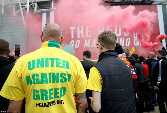T-shirts were made specially for the protest as United fans spent the week before the big derby match making preparations