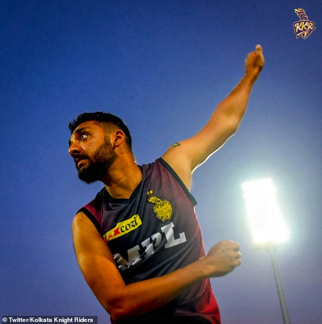 Kolkata Knight Riders bowler VarunChakravarthy is one of two of their player to have tested positive for Covid-19 - forcing the postponement of Monday's match