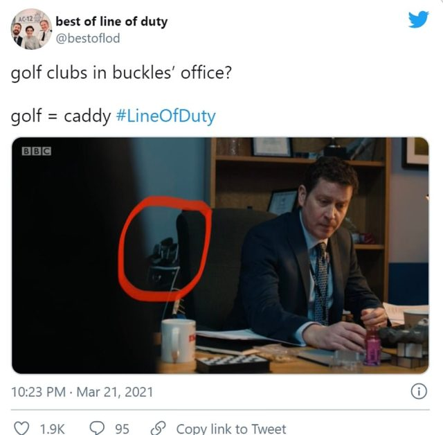 Oh! One fan noted the presence of the golf caddy - harking back to an earlier villain