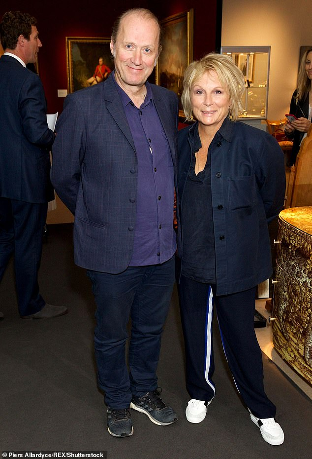 'We are masters of keep it in, get over it, move on': The singer is married to actress Jennifer Saunders, who recently revealed the secret to their 35-year union (pictured in 2018)