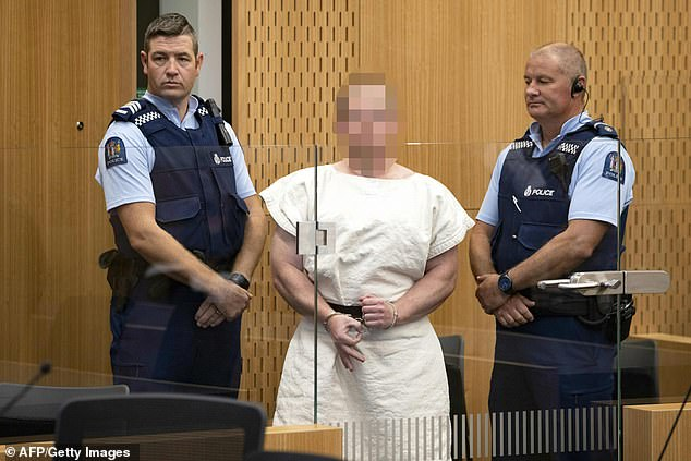 White supremacistBrenton Tarrant (pictured) flashed the hand during an early court appearance in the days following the Christchurch massacre