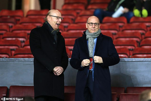 The letter said Sunday's protests were a 'culmination of 16 years of debt and decline' under Avram Glazer (left) and Joel Glazer (right)