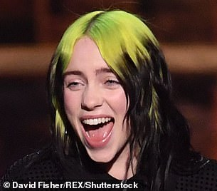 Transformation: Billie had long been known for her black and neon green tresses