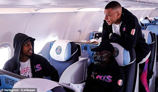 PSG also revealed that Mbappe jetted out to Manchester despite the doubts over his fitness