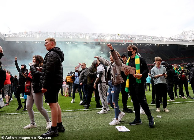 The protests led to the postponement of the Premier League fixture against Liverpool
