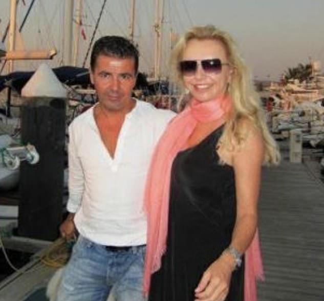 Ms Phillips, a former Lloyds stockbrokerwhose explosive 1996 bestseller 'Blonde Ambition' rocked City of London is seen with her Turkish businessman partnerMehmet Sozbilir (left)