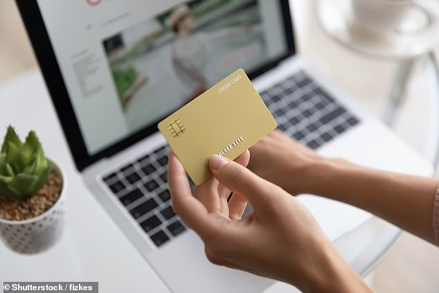 Online sales made up almost a fifth of global spending in 2020 as lockdowns caused a surge in internet shopping, a United Nations study has revealed (file image)