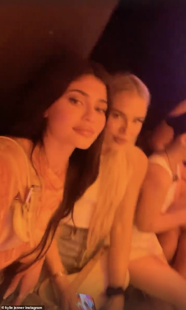 Vibes: Kylie shared a selfie video with a friend during the performance