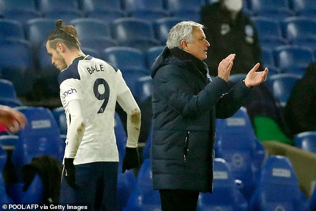 Bale and Jose Mourinho failed to freeze before the Portuguese boss was sacked last month