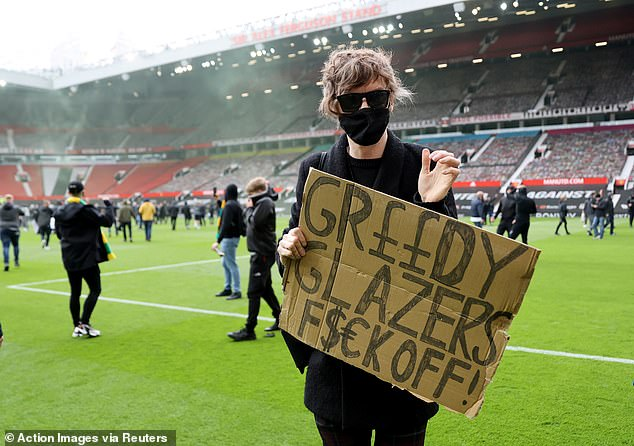 Some fans stormed the Old Trafford pitch to make their feelings known about the owners