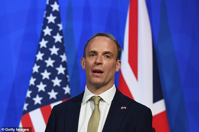 The Foreign Secretary was full of warm words for the Biden White House as he said it had already taken 'a huge number of bold and very welcome steps' on the world stage