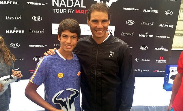 Carlos Alcaraz will play his tennis hero Rafael Nadal in the second-round of the Madrid Open