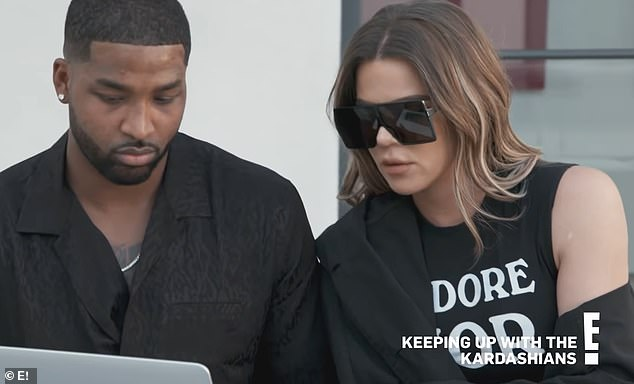 Options: Khloe Kardashian and Tristan Thompson explore surrogacy amid reconciliation in latest KUWTK clip (pictured above)... filmed BEFORE his new round cheating rumors surfaced