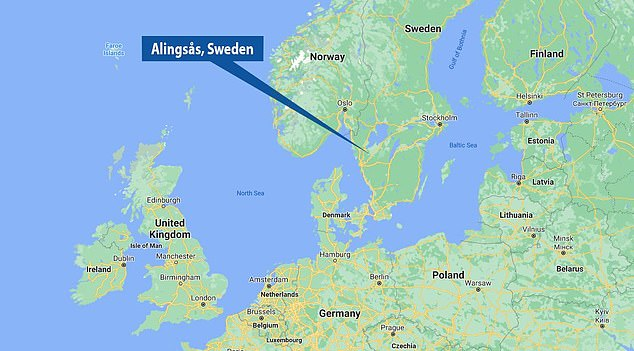 The trove was discovered in Alingsas, Sweden, about 30 miles from Gothenburg