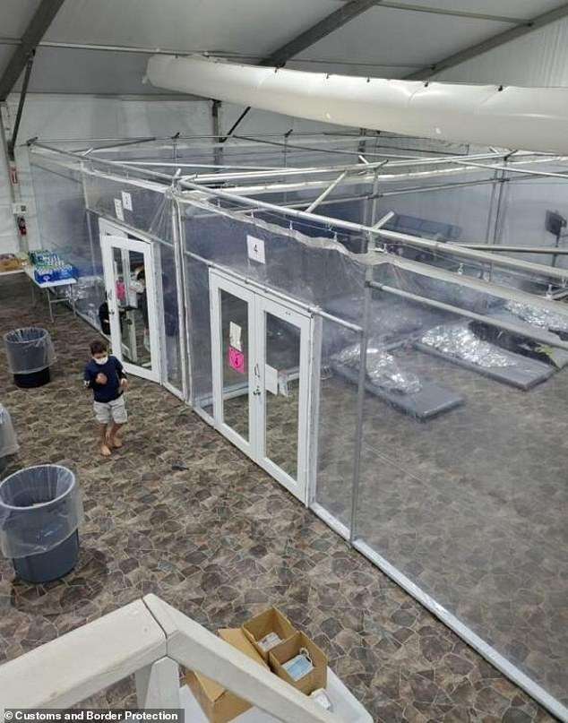 The Department of Homeland Security released photos Monday showing near-empty border facilities to tout there has been an 88% drop in the number of unaccompanied minor migrants in CBP custody ¿ with the majority now transferred to Health and Human Services facilities