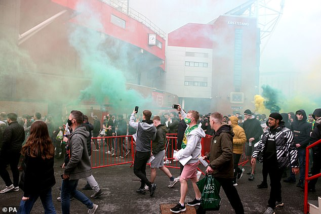 The club are plotting to press charges against all the fans who pushed the protest too far