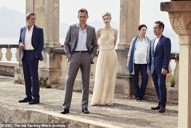 The Night Manager with Tom Hollander, Olivia Colman, Elizabeth Debicki, Tom Hiddleston and Hugh Laurie