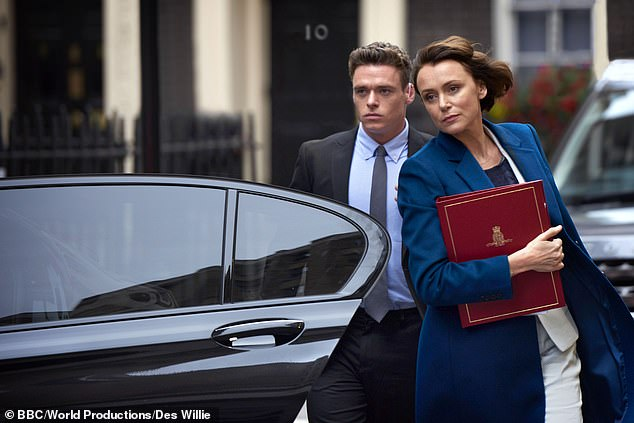 Keeley Hawes and Richard Madden in the BBC crime drama Bodyguard