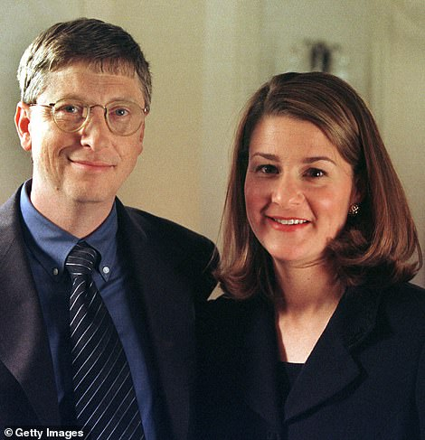 Gates co-founded Microsoft in 1975, almost 20 years before he married Melinda. The company made $1million in sales by 1978 and by 1987, he had become the world's youngest ever billionaire. He met Melinda that year. They are pictured in 1998