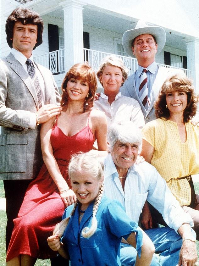 Patrick Duffy, Victoria Principle, Charlene Tilton, Barbara Belle Geddes, Larry Hagman and Linda Gray in Dallas
