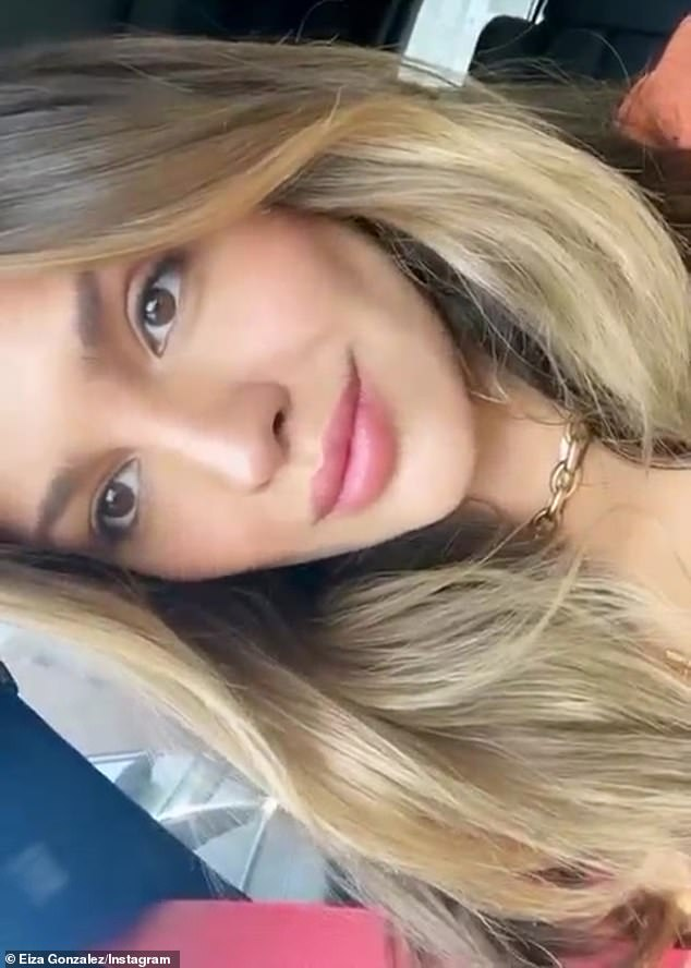 Blonde look:Eiza Gonzalez took to social media Monday to share her new blonde look