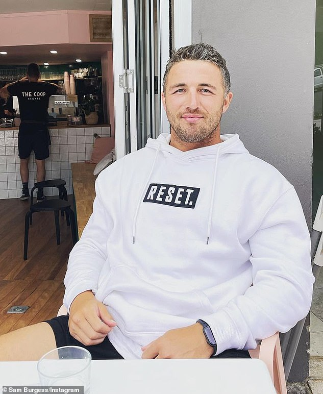 The post was quickly inundated with comments from his fellow co-stars including Sam Burgess (pictured), who wrote: 'Absolute machine'
