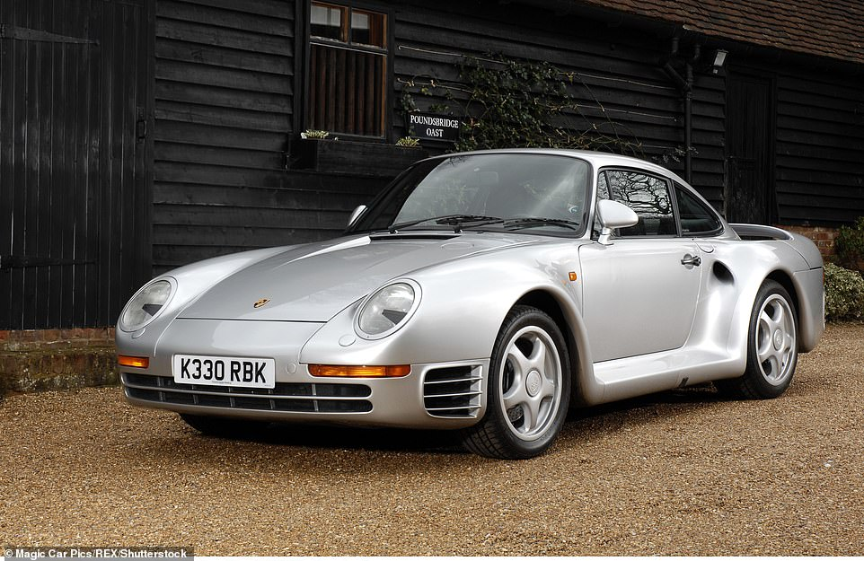 A Porsche 959, similar to that owned by Bill Gates, is seen in Britain