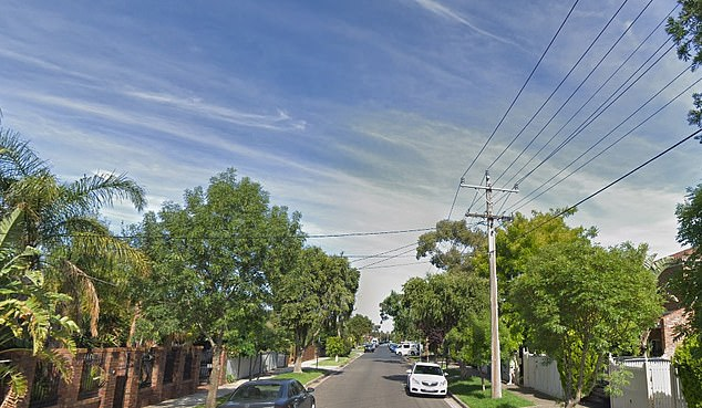 The man was parking outside an address onTovan Akas Avenue in Bentleigh, in inner-city Melbourne (pictured) around 3:30am on Tuesday