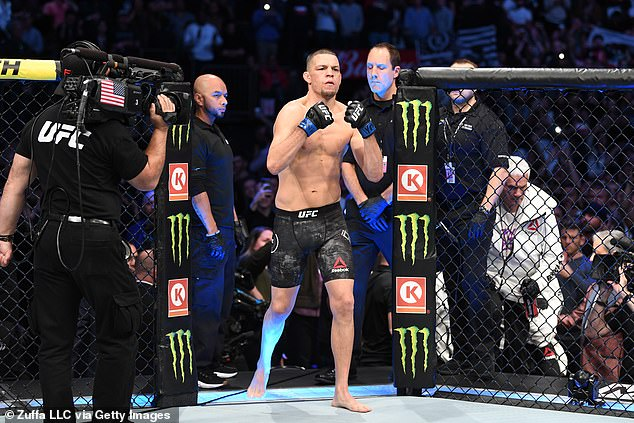 Nate Diaz's return to the UFC has been delayed by a month due to a minor injury sustained