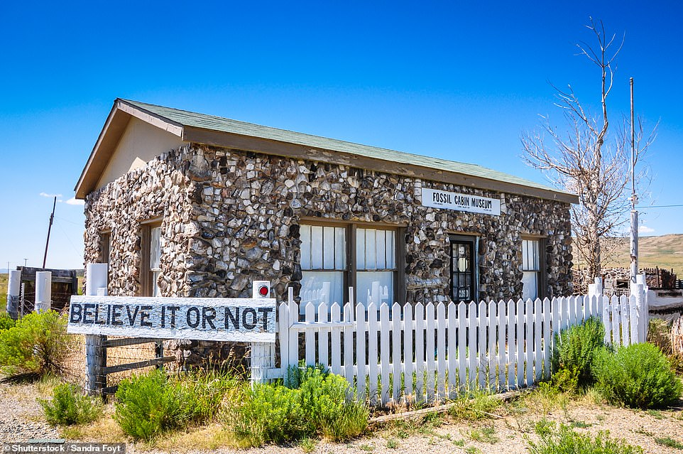 No place like bone: The Fossil Cabin Museum in Wyoming, built from more than 5,000 dinosaur bones, was the brainchild ofThomas Boylan