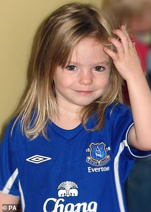 The then three-year-old Madeleine vanished from a holiday apartment in Portugal in 2007