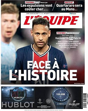 PSG have been backed by the French media to beat City and reach the Champions League final