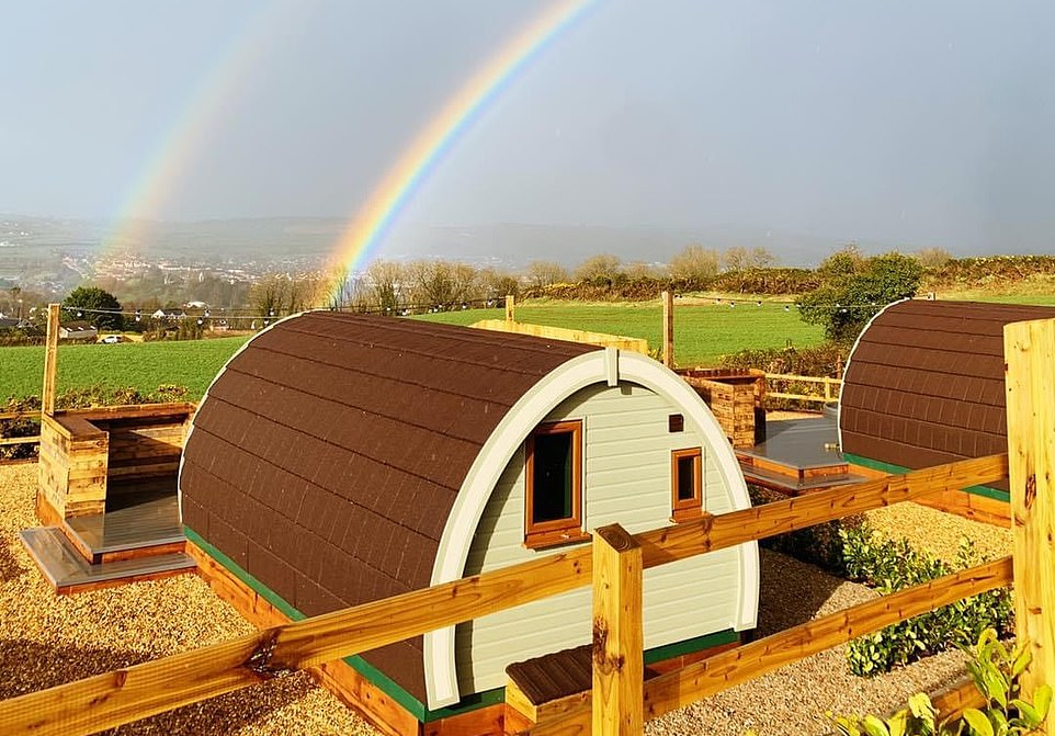One of the accommodation pods at Streamvale Open Farm close to Belfast.The farm nestles within 50 acres of open country