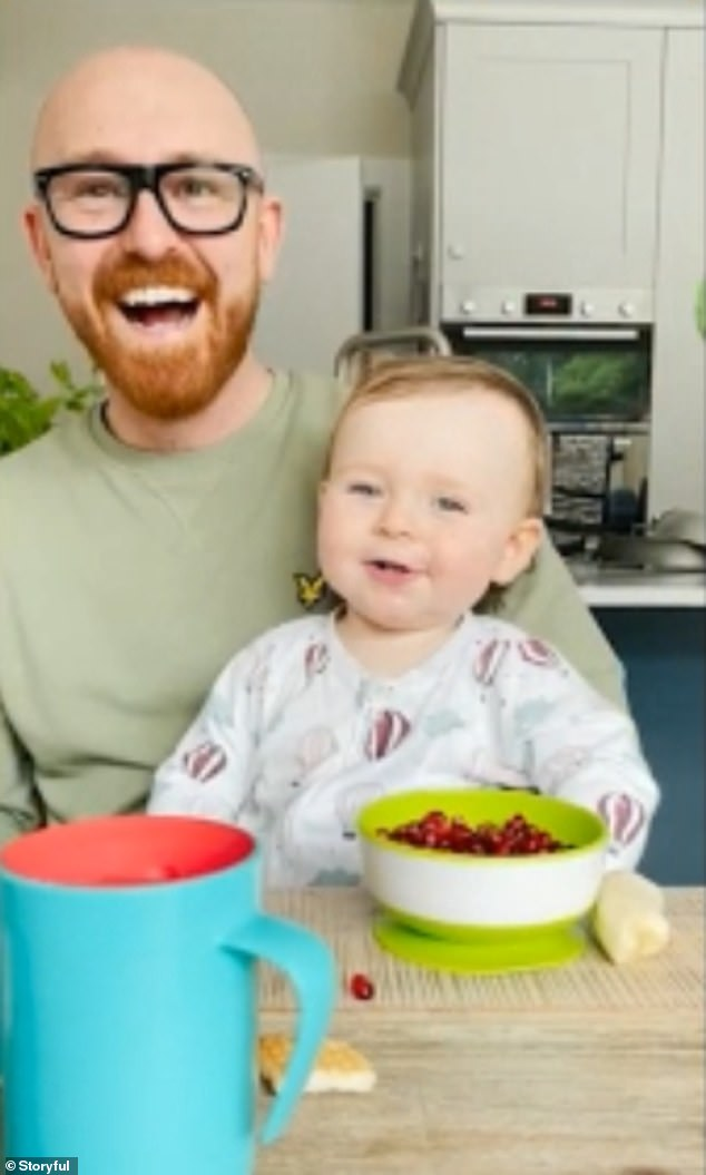 Julian Brophy, pictured with his son Aiden James, AJ, in Wicklow, Ireland, admitted he might need the services of an exorcist after the toddler called out for his mama