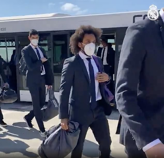 Marcelo joined his team-mates in time for the trip to London as they touched down on Tuesday