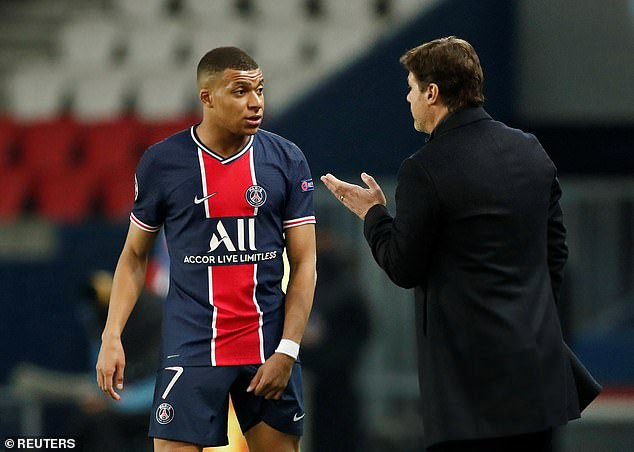 Mauricio Pochettino (right) will be desperate for Kylian Mbappe to be fit on Tuesday night