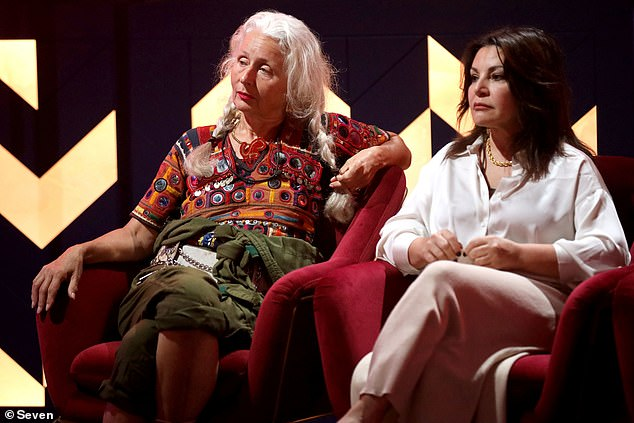 Plot: Sarah Jane Adams of Big Brother, 66, [L] and Mary Kalifatidis, 55, [R] were sent to a secret attic after a shocking double eviction in Tuesday night's episode