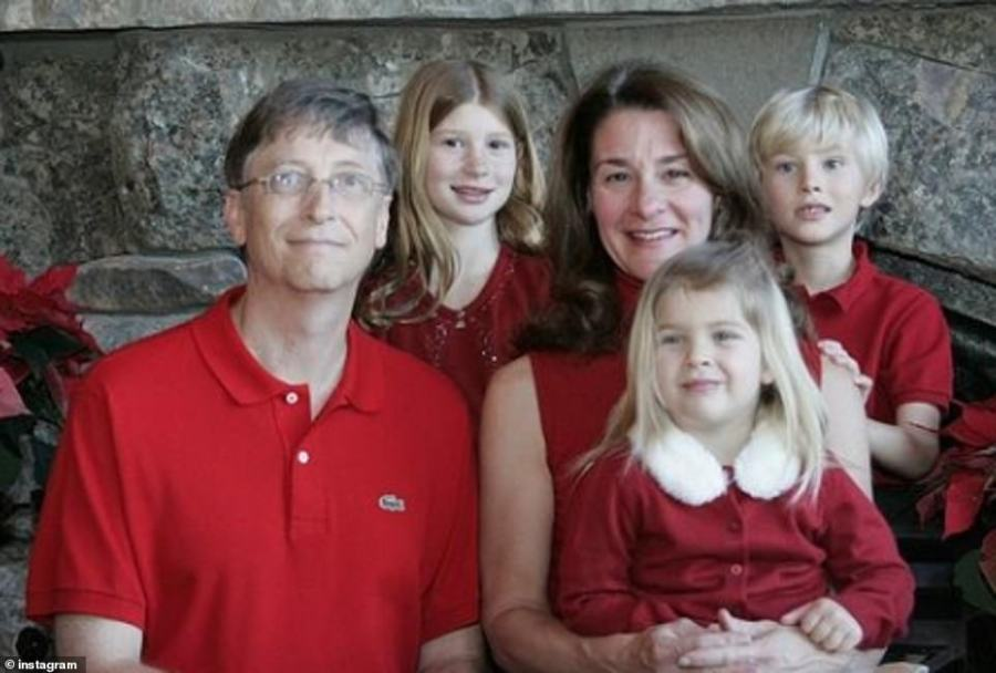 Commitment: Melinda was determined to give their children as normal an upbringing as possible, and revealed that she even registered the kids at school under her maiden name so people wouldn't make the connection with their wealthy family