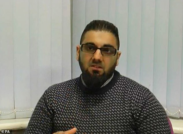 Khan (pictured), from Stafford in the West Midlands, armed himself with knives and strapped a fake suicide belt to his waist before attacking conference delegates