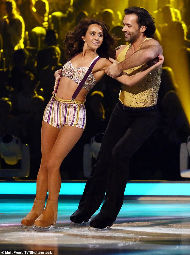 Candidate: Samia Longchambon revealed she weighed less than seven stones during her stint on Dancing On Ice as she battles severe anxiety (photo with Sylvain Longchambon in 2013)