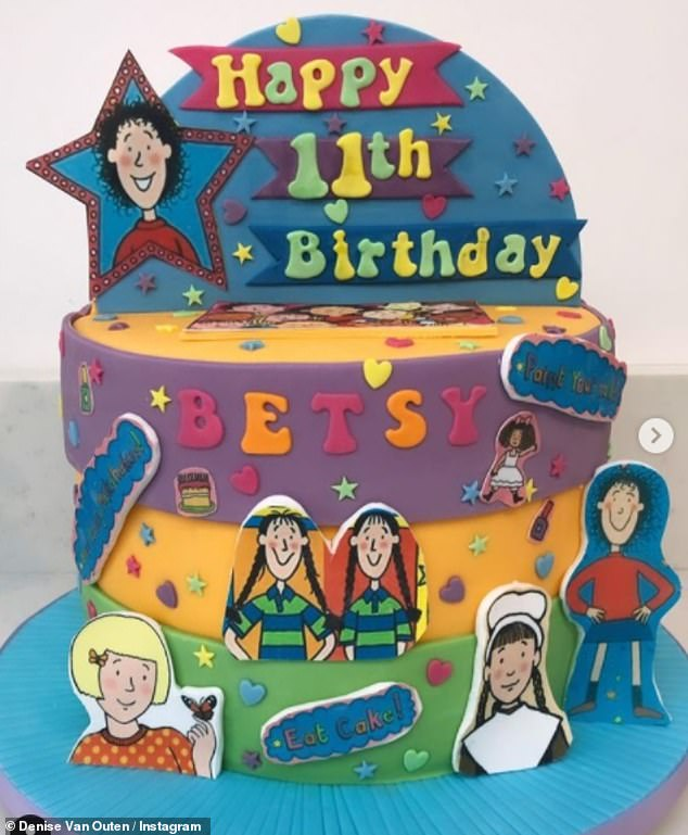 Tasty: Meanwhile, Denise gave her baby girl an amazing multi-colored birthday cake inspired by Jacqueline Wilson's children's book, with the character Tracey Beaker taking center stage