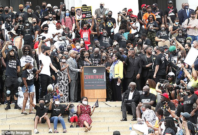 Mitchell attended an August 28 rally in Washington, DC which was officially known as 'Commitment March: Get Your Knee Off Our Necks.' On his jury questionnaire, Mitchell wrote 'No' when asked if he attended an anti-police brutality rally