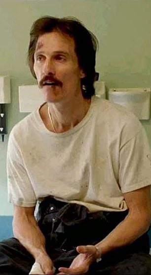 Oscar glory: Another actor who found Oscar success with a dramatic weight loss role is Matthew McConaughey, who took home the Best Actor award after losing some 40lbs to play Ron Woodroof in Dallas Buyers Club
